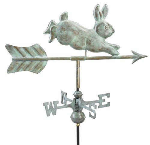 Good Directions 809V1G Rabbit Garden Weathervane Blue Verde Copper with Garden Pole