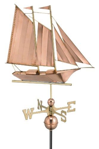 Good Directions 9601P Schooner Weathervane Polished Copper