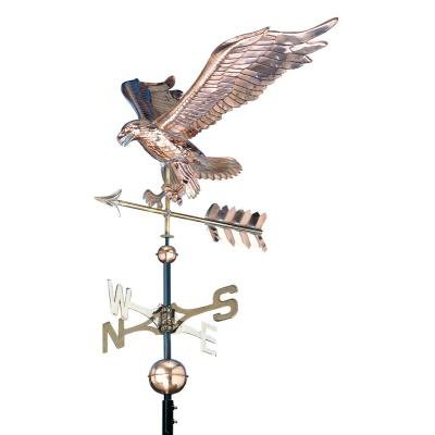 Whitehall Products 58 Inch High Polished Copper Eagle Weathervane