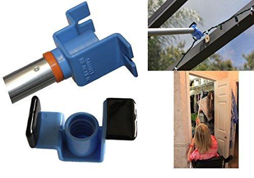 Smart Reacher Tool-multipurpose Reacher Grabber Pole Hook For Decorating Window Shutters String Lighting Hard