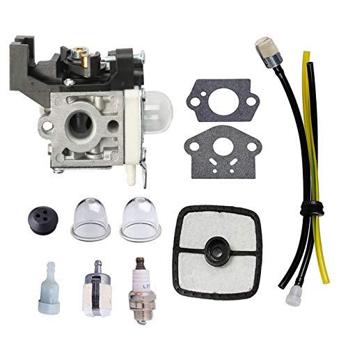 Podoy SRM225 Carburetor for Echo Trimmer Parts ZAMA RB-K93 Carb Fuel Line Kit Primer Bulb for GT225 GT225i GT225L PAS225 PE225 PPF225 SHC225 SRM225U A021001690 A021001691