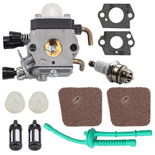 Butom FS 55 55R Carburetor for Stihl C1Q-S97 FS45 FS55 FS55R FS55RC FS46 FS55C HL45 KM55R FS38 String Trimmer Weed Eater wAir Fuel Filter Line Kit