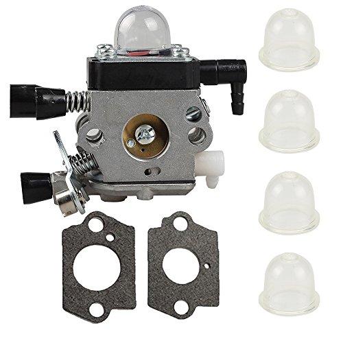 Harbot 4228 120 0608 Carburetor with Gasket Primer Bulb for Stihl FS38 HS45 FS45 FC55 FS310 Hedge Trimmer