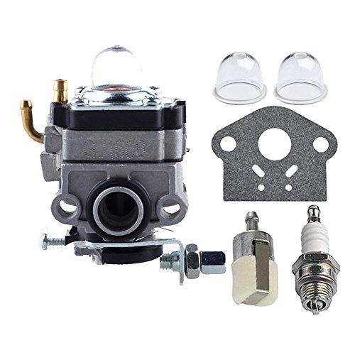 HIPA 12300040630 Carburetor with Primer Bulb Fuel Filter Spark Plug for ECHO PE2201 PE2201A SRM2000 SRM2200 SRM2201 GT22000 String Trimmer Brushcutter