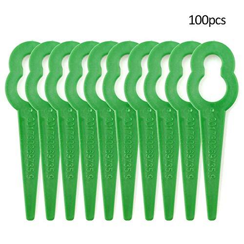 Zhengpin 100PCS Plastic Grass Trimmer Blades Cordless Grass Trimmer Edger - Durable Replace Garden Grass Trimmer for Garden Grass Cuttering Replacement Blade Tool Parts Garden Tools