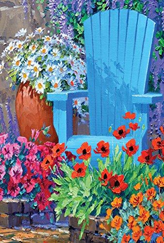 Toland - Adirondack Arrangement - Decorative Summmer Flower Floral Relax Usa-produced House Flag