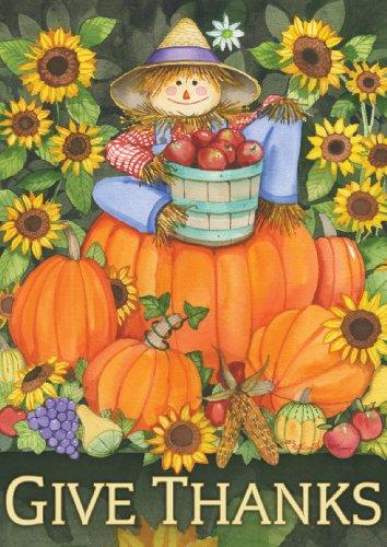 Toland Home Garden  Scarecrow Harvest 125 X 18-inch Decorative Usa-produced Garden Flag