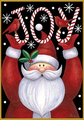 Toland - Santa Joy - Decorative Double Sided Winter Christmas Holiday Jolly Usa-produced Garden Flag