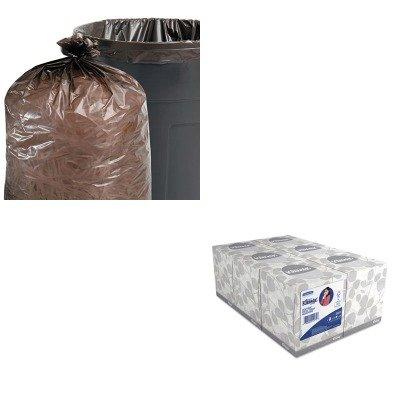 KITKIM21271STOT5051B15 - Value Kit - Stout 100 Recycled Plastic Garbage Bags STOT5051B15 and KIMBERLY CLARK KLEENEX White Facial Tissue KIM21271