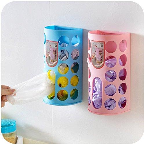 Wall Mounted Plastic Garbage Bags Storage Box Sundries Storage Rack Holder Hanging Tissue Paper Box