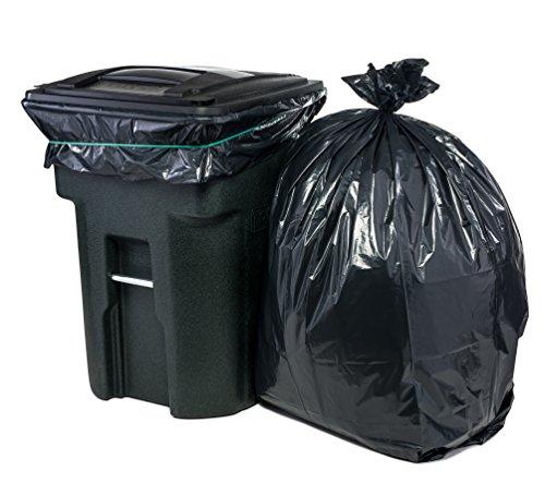 Plasticplace 95 Gal Trash Bags Black 2 Mil 61x68 25 Bags Per Case