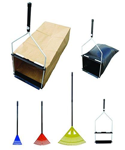 easy Leaf Scooper - Paper Yard Waste Bagamp Plastic Trash Bag Holder --- Value Set a - 1 Bag Dustpan  3 Leaf