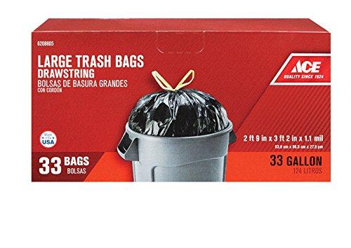 33 Gal Trash Bags Drawstring 33 Pk