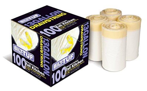 Bilt-tuf Tall Kitchen 13 Gallon Drawstring 100 Count White Indoor Trash Bags