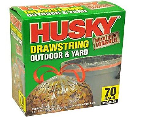 Husky 1mil Outdoor And Yard Trash Drawstring Bags 39 Gallon Capacity 70 Bags