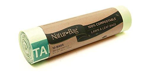 Natur-bag 39-gallon Compostable Lawnamp Leaf Bags 10 Count