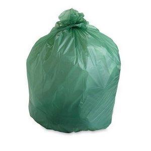 Stout E3348e85 32 Gallon 33&quot X 48&quot Heavy Duty Compostable Trash Bags 50 Bags Per Case Astm6400 Green Made