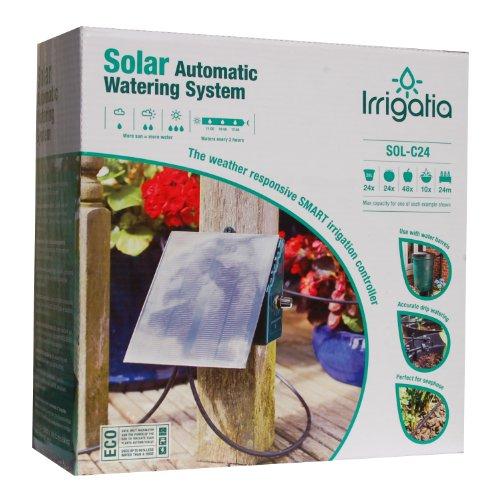 Bosmere L451 Irrigatia Solar Automatic Watering System for Water Barrels 24 Irrigation Units