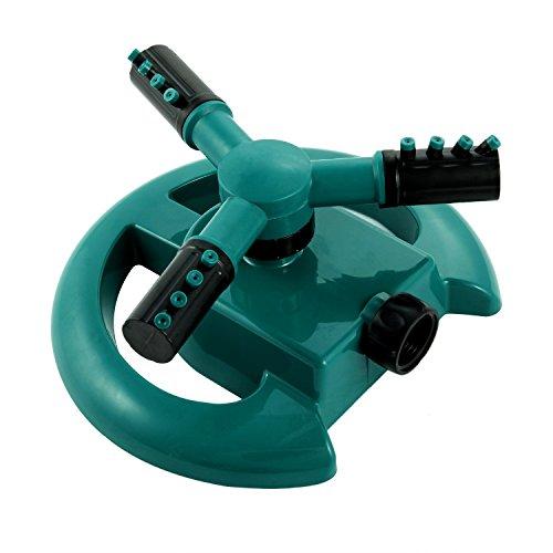 Lawn Sprinkler Garden Sprinkler Water Sprinkler Premium Quality ABS Base Durable Rotary Three Arm Water Sprinkler