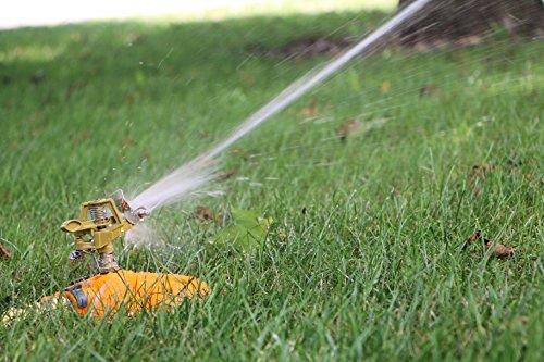 Lawn Sprinklers  Premium Quality Garden Lawn Sprinklers Best Fun Water Sprinkler System - Gardens Kids Love Them by Careful Gardener brass - butterfly base