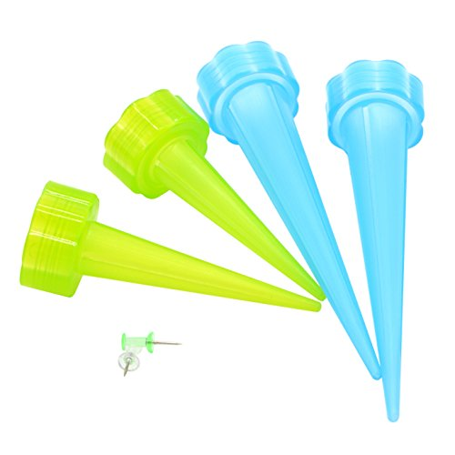 Plant Watering Spikes Automatic Garden Cone Water Control Drip Cone Spikes Flower Plant Waterers Bottle Irrigation System with Nails Set of 8