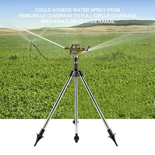 AYNEFY Lawn Water Sprinkler Zinc Alloy Bird Sprink Watering Sprinkler Sprayer 360°Range on Stainless Steel Tripod Lawn Irrigation System Ideal for Garden Yard
