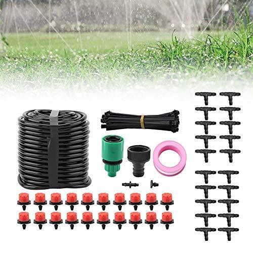 Jeffergrill Micro Drip Lawn Irrigation Sprinkler 20M Balcony Greenhouse Plant Flower Garden Auto Spray Plant Watering KitUSA