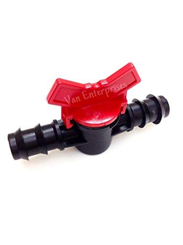 "38 ID PVC Ball Valves Hose Barb Connectors 38"" ID for Drip Irrigation Hoses and Aquariums Various"