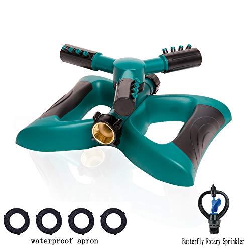 Laitemo Lawn Sprinkler - Garden Sprinkler Lawn Irrigation System 360 Degree Rotating Water Sprinkler Coverage Adjustable Lawn Sprayer