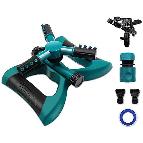Motionx Lawn Sprinkler 3 Arms Sprayer Automatic 360 Rotating Sprinklers Portable Kids Outdoor Sprinkler for Lawn Irrigation System