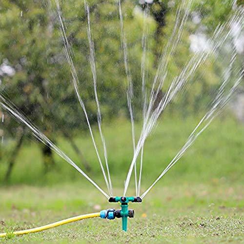 Proudto 2pcs Garden Sprinkler Lawn Irrigation System 360 Degree Rotating Lawn Sprinkler Automatic Garden Water Sprinkler