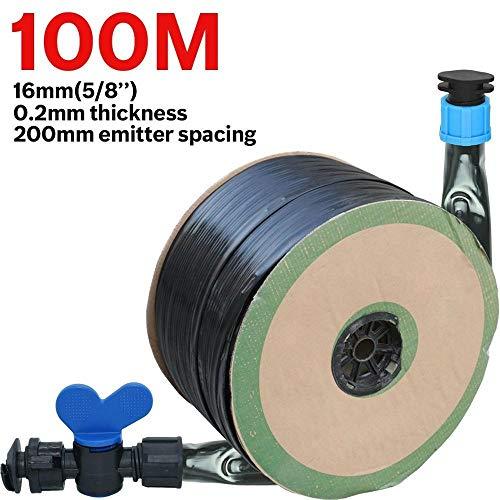 DFSM KESLA 20-150M 16mm 02mm Thickness Drip Irrigation Tape 58 8mil 20cm Emitter Dripper Spacing Hose Greenhouse Garden Connector Color  KSL01 KIT090 100M Size  58