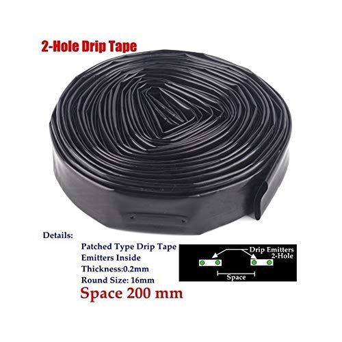 HUIJUNWENTI 5~50m16mm 2-Hole Greenhouse Irrigation drip Tape Under Irrigation Film Micro drip Hose Irrigation System Soaker Hose aerodynamic