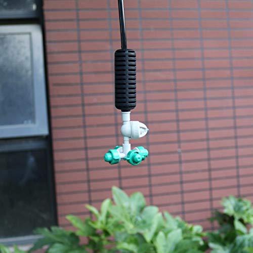 SHINEAB STORE - 10 Sets Fogger Cross Misting Hanging Sprinkler Kits mist water sprayer For Garden Greenhouse Irrigation 14 hose Accessories