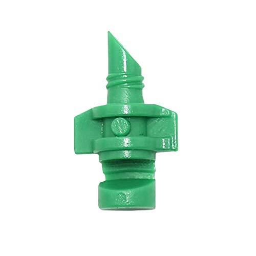 JUNHEA3 50 Pcs Micro Garden Lawn Water Spray Misting Nozzle Sprinkler Watering Irrigation Heads Atomizing Misting Sprayer 180 Degree Green