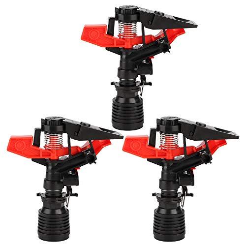Mumusuki Rocker Arm Nozzle G34 Inch Irrigation Head Rocker Arm Nozzle Auto Rotate Water Sprinkler Sprayer for Garden