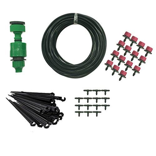 Philonext Drip Irrigation Kit hose 33 Feet  Irrigation Gardeners Greenhouse Plant Watering - 14&quot Blank Distribution