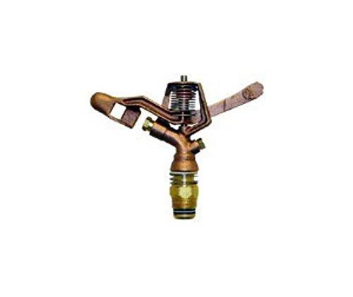 Qvs 139525 Full Circle Brass Impact Sprinkler 34-inch Gold