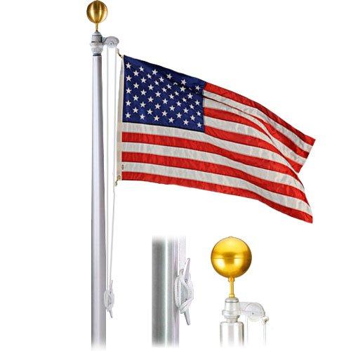 Eder Flag Economy Extra 50 Foot 8X3-12X188 Satin Finish Flagpole