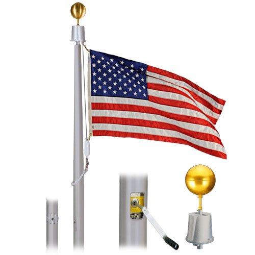 Hurricane Internal 50 Foot Flagpole 10x4x312 Clear Finish Flagpole