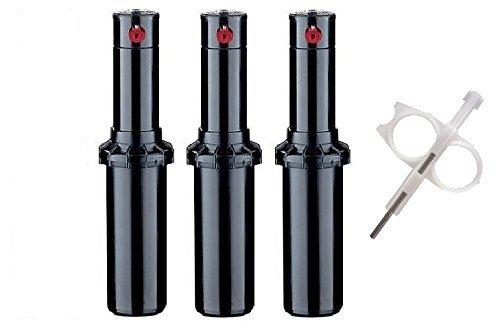 Hunter PGP-ADJ Rotor Sprinkler Heads - 3 Pack - Includes Adjustment Tool
