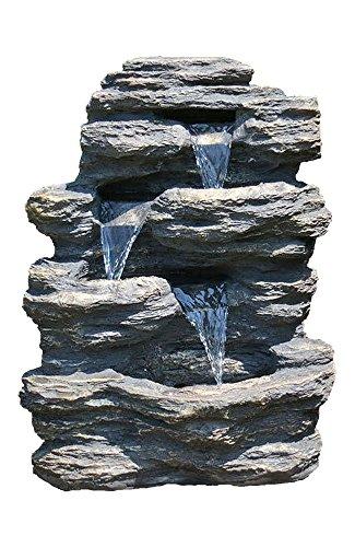 24&quot Rock Waterfall Garden Fountain W Led Lights Perfect Garden Water Feature Patio Fountain Outdoor Fountain