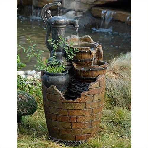Glenville Water Pump Cascading Outdoor Fountain