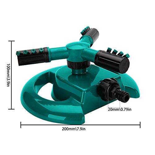 Lawn Sprinkler  Garden Sprinkler Benestellar Premium Quality Circular Sprayer Durable Rotary Three Arm Water