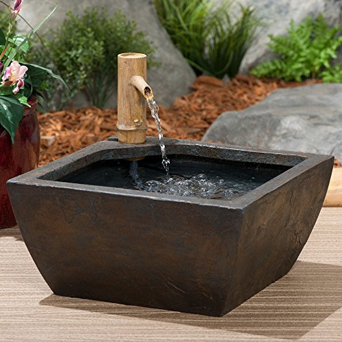 Aquascape 78197 Aquatic Patio Pond Water Garden With Bamboo Fountain 16-inch