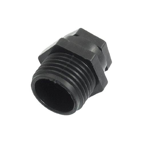 Sourcingmap 20mm 2532-inch Thread Plastic Irrigation Spray Nozzle - Black