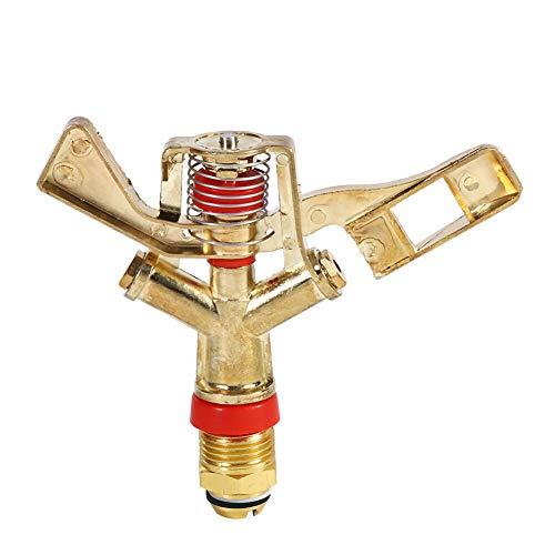 scgtpapadc 34inch Copper Rotate Water Sprinkler Garden Irrigation Spray Nozzle Connector Golden