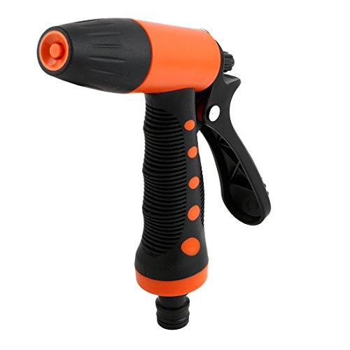 uxcell Plastic Farm Garden Adjustable Water Irrigation Connector Spray Nozzle Black Orange