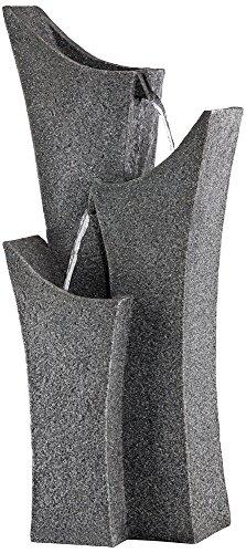 Exton 31&quot High Gray Stone Indooroutdoor Three Tier Fountain