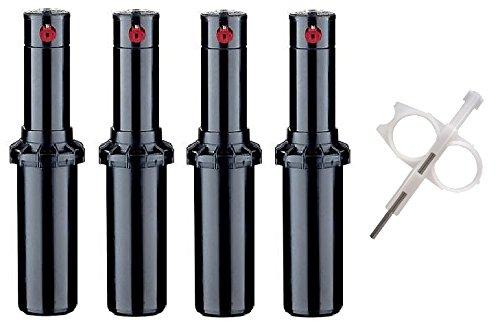 Hunter Pgp-adj Rotor Sprinkler Heads - 4 Pack - Includes Adjustment Tool